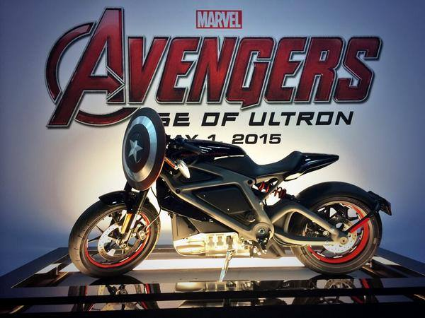 Comic-Con: New Avengers: Age of Ultron Photo Has Black Widow on Harley-Davidson's Electric Motorcycle