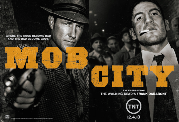 Mob City Photo of Ed Burns and Bernthal