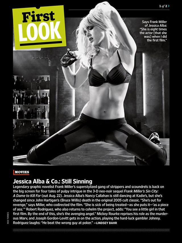 First Look at New Images From Frank Miller's Sin City: A Dame to Kill For