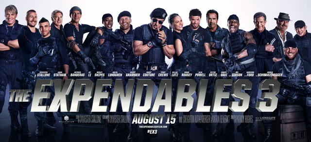 The New Theatrical Banner for The Expendables 3