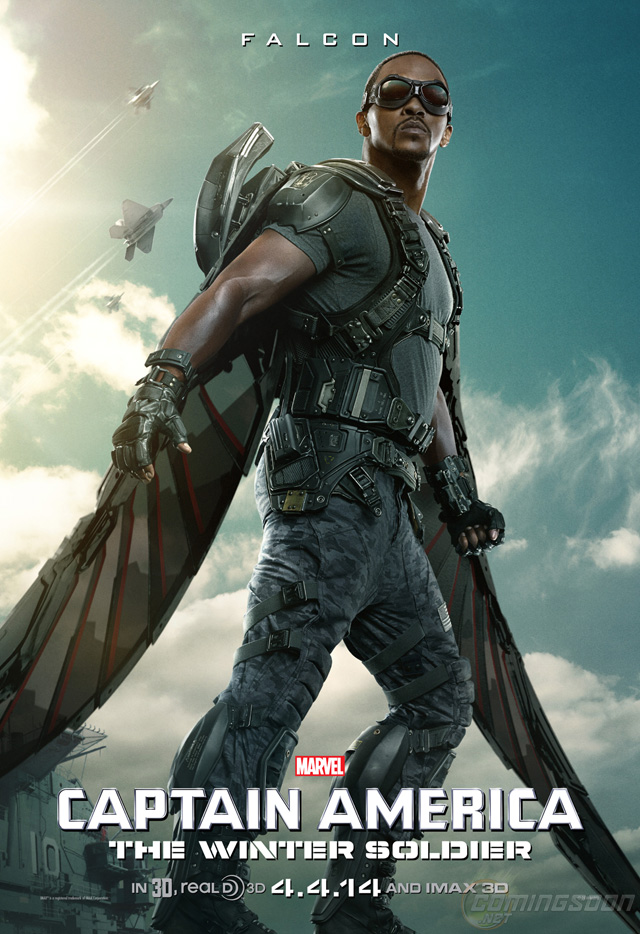 Exclusive: The Falcon Character Poster for Captain America: The Winter Soldier!