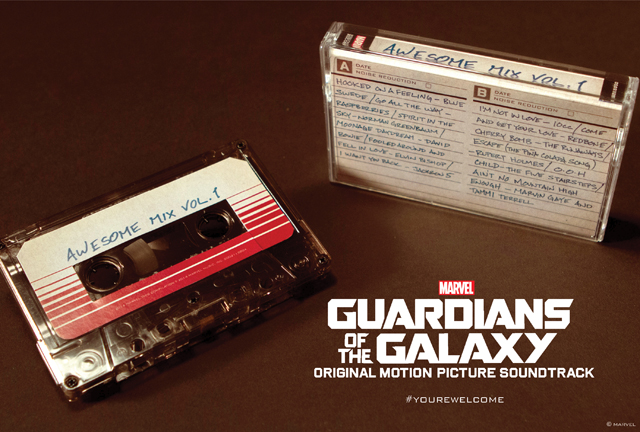 Guardians of the Galaxy's Awesome Mix Vol. 1 Comes to Cassette!