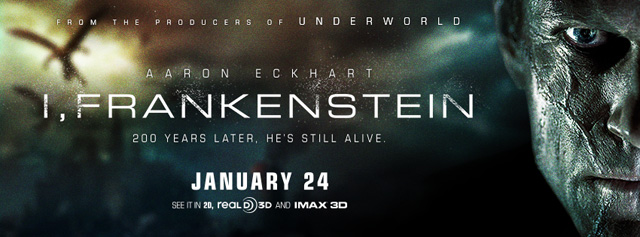 Two New TV Spots for I, Frankenstein, Starring Aaron Eckhart