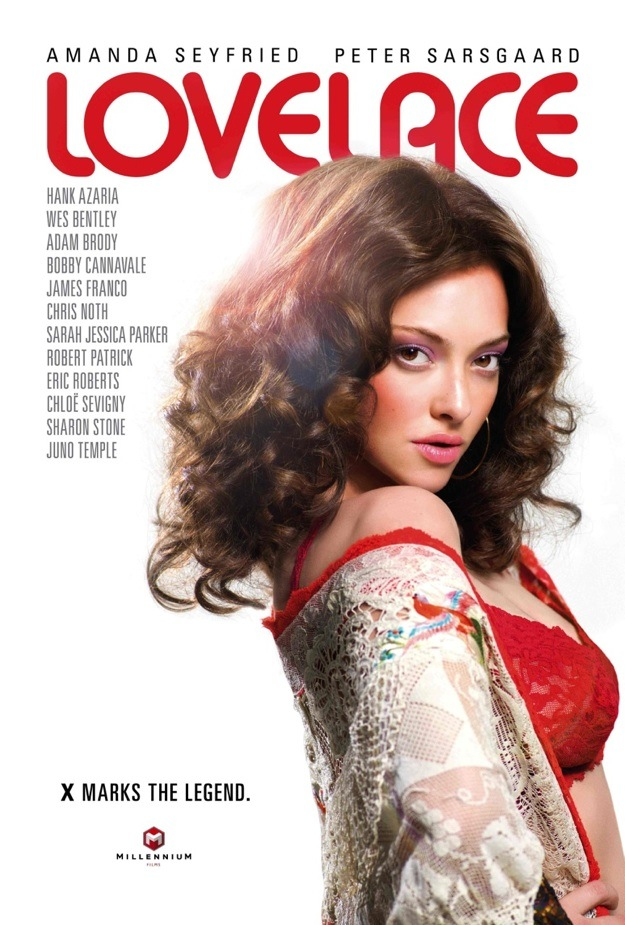 love lace onesheet Amanda Seyfried Strikes a Pose on the Lovelace Poster
