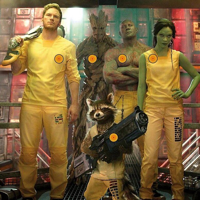 The Guardians of the Galaxy Model Interstellar Prison Garb in a New Photo