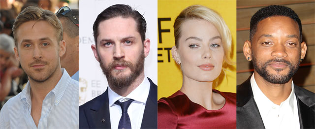 Suicide Squad Targets Ryan Gosling, Will Smith, Margot Robbie and Tom Hardy!